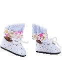 poupee-paola-reina Chaussures blanches lacets Amigas